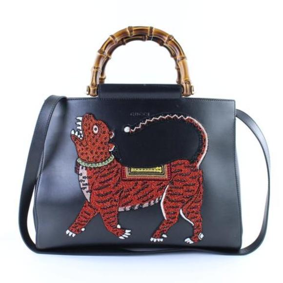 a3c546d1edfb Gucci Bags   Tiger Nymphaea Medium Top Handle 10gr1215   Poshmark